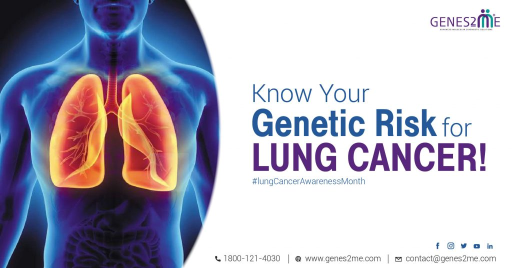 Genetic testing; preventive health; lung cancer;predisposition; cardiological disorder; neurological disorder; Lung cancer day; cancer awareness month; breast cancer genetic test